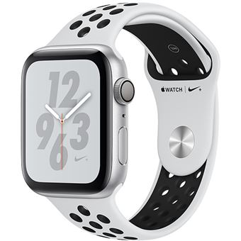 Apple Watch Nike+ Series 4 40mm - Alumínio Prateado | Bracelete Desportiva Nike - Platina Pura | Preto