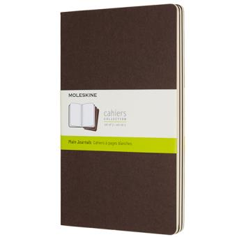 Cadernos Lisos Moleskine Cahier Grande Castanho - 3 Unidades