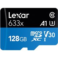 Cartão Memória MicroSDXC Lexar LSDMI128BBAP633 V30 633x - 128GB