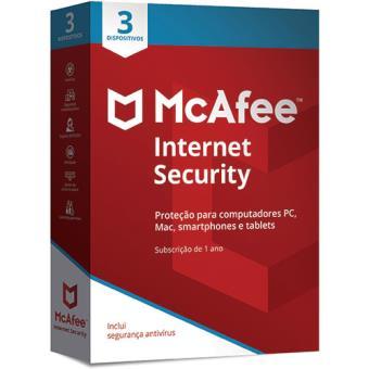 McAfee Internet Security - 3 Dispositivos - 1 Ano