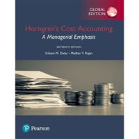 Horngren's cost accounting: a manag