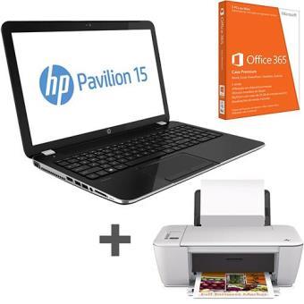 Pack Fnac: HP Pavilion 15-e003sp + HP Deskjet 2540 + Office 365
