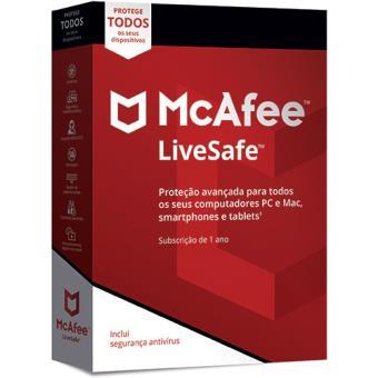 McAfee LiveSafe - Todos os Dispositivos - 1 Ano