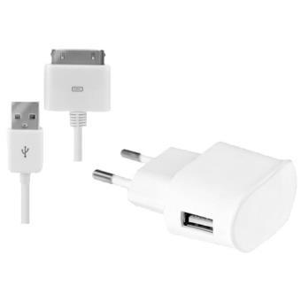 Modelabs Mini Carregador + Cabo de Dados iPhone (Branco)