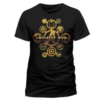 T-Shirt Avengers Infinity War Character Icons - Tamanho L