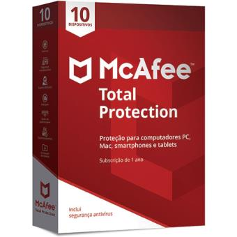McAfee Total Protection - 10 Dispositivos - 1 Ano