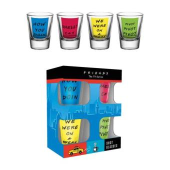 Friends Quotes 4 Shot Glasses Set