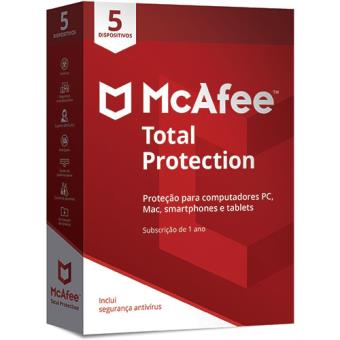 McAfee Total Protection - 5 Dispositivos - 1 Ano