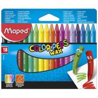 Lápis de Cera Color Peps - 18 Unidades