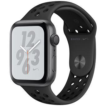 Apple Watch Nike+ Series 4 44mm - Alumínio Cinzento | Bracelete Desportiva Nike+ - Antracite | Preto