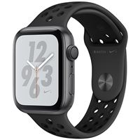 Apple Watch Nike+ Series 4 44mm - Alumínio Cinzento | Bracelete Desportiva Nike+ - Antracite | Preto