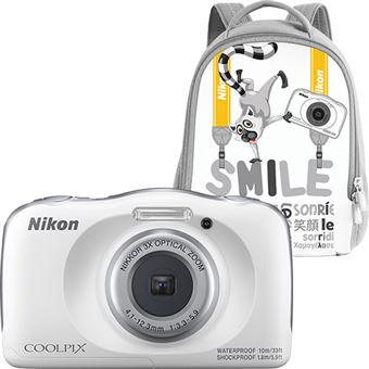 Nikon COOLPIX W150 - Branco + Mochila - Branco