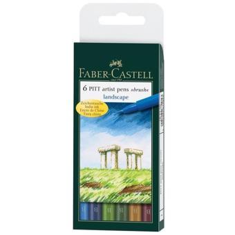Canetas Faber-Castell Pitt Artist Pen Brush: Paisagem - 6 Unidades