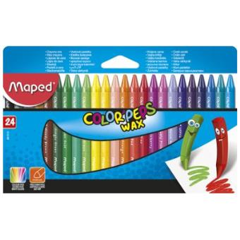 Lápis de Cera Color Peps - 24 Unidades