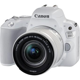 Canon EOS 200D + EF-S 18-55mm f/4-5.6 IS STM - Branco