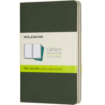 Cadernos Lisos Moleskine Cahier Bolso Verde - 3 Unidades