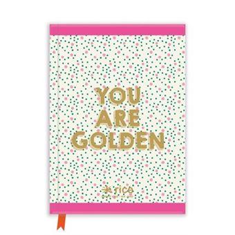 Livro notas a5 you are golden