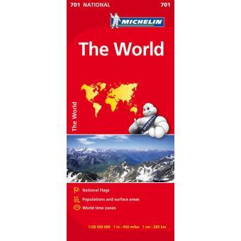 O Mundo Mapa Michelin 701