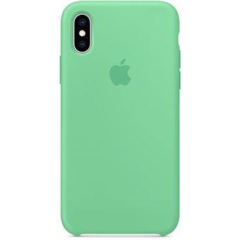 Capa Silicone Apple para iPhone XS - Hortelã