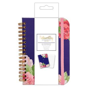 Caderno Pautado Graphic Florals A6