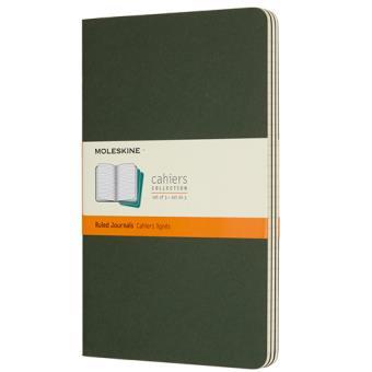 Cadernos Pautados Moleskine Cahier Grande Verde - 3 Unidades