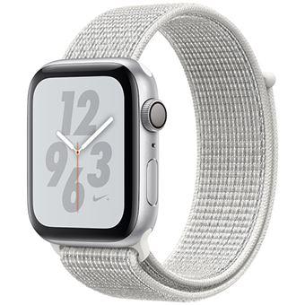 Apple Watch Nike+ Series 4 44mm - Alumínio Prateado | Bracelete Loop Desportiva Nike+ - Branco Cume