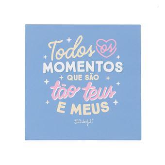 Caixa Mr. Wonderful com Álbum de fotos - Todos os Momentos Que São Teus e Meus