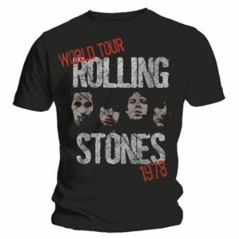 T-Shirt The Rolling Stones: World Tour Stencil (L)