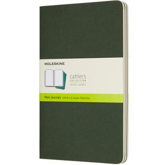 Cadernos Lisos Moleskine Cahier Grande Verde - 3 Unidades