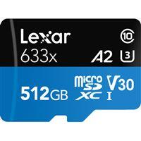 Cartão Memória MicroSDXC Lexar LSDMI512BBAP633 V30 633x - 512GB