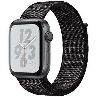 Apple Watch Nike+ Series 4 44mm - Alumínio Cinzento | Bracelete Loop Desportiva Nike+ - Preto