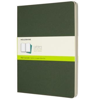 Cadernos Lisos Moleskine Cahier XL Verde - 3 Unidades