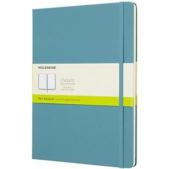 Caderno Pautado Moleskine XL Azul Claro