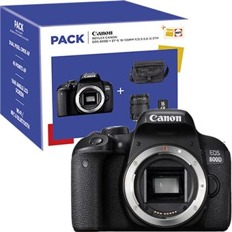 Pack Fnac Canon EOS 800D + EF-S 18-135mm f/3.5-5.6 IS STM