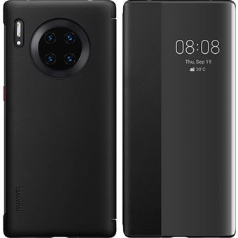 Capa Flip Huawei Smart View para Mate30 Pro - Preto