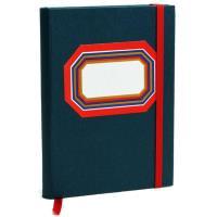 Caderno Clássico Liso A5 Azul/Vermelho