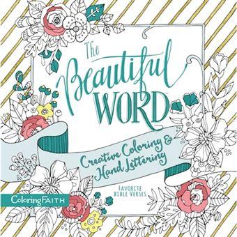 Beautiful word adult coloring book