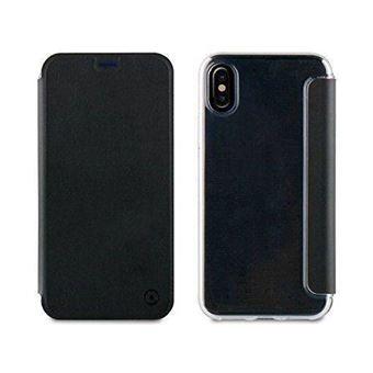 Capa Muvit Folio para iPhone X - Preta e Transparente