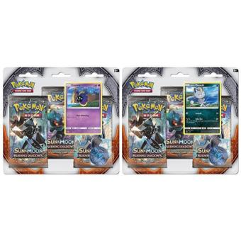 Pokémon Sun & Moon Burning Shadows 3 Booster Blister