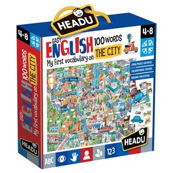 Puzzle Easy English 100 Words: The City - Headu
