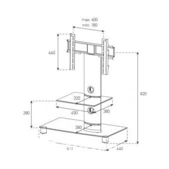 Sonorous Móvel LCD/Plasma NEO-81-B-BLK (Preto)