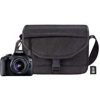 Canon EOS 2000D + EF-S 18-55mm f/3.5-5.6 III + Bolsa + Cartão SD 16 + Pano de Limpeza