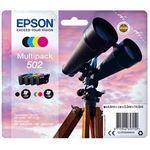 Multipack Tinteiro Epson 502 - Preto | Ciano | Amarelo | Magenta - C13T02V64010