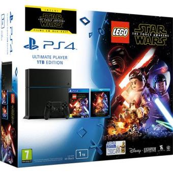 Consola Sony PS4 Black 1TB + LEGO Star Wars: The Force Awakens