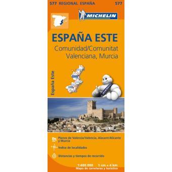 mapa michelin portugal e espanha Espanha: Comunidad/Comunitat Valenciana, Murcia Mapa Michelin 577  mapa michelin portugal e espanha