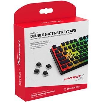 Kit Teclas HyperX Double Shot PBT Keycaps - 104 Teclas - Layout US