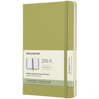 Agenda Semanal 18 Meses 2018-2019 Moleskine Notebook Verde Pastel Grande