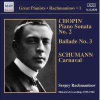 Rachmaninov Solo Piano Rececordings Vol.1