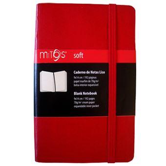Caderno Liso Mitos Soft Bolso Vermelho