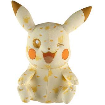 Pokémon - Peluche Pikachu Edição Especial 20º Aniversário